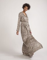 Cynthia Rowley Silk Charmeuse Dot Maxi Shirtdress