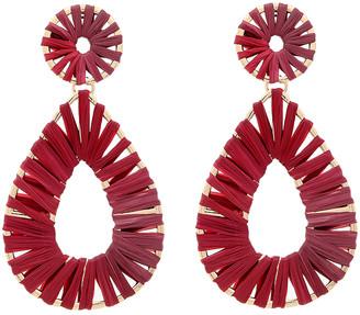 Amrita Singh Women's Earrings Ruby - Red Raffia & Goldtone Raquel Teardrop Earrings
