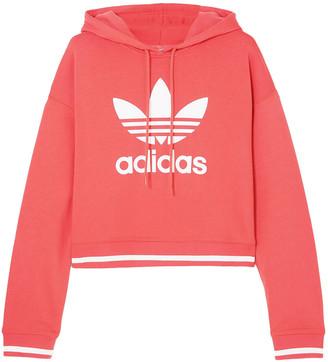 adidas Active Icons Printed Cotton-blend Jersey Hoodie
