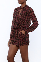 Olivaceous Printed Romper
