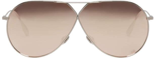 Christian Dior Silver Stellaire 3 Aviator Sunglasses