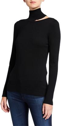 Elie Tahari Vita Turtleneck Cutout Sweater