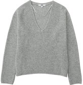 Uniqlo Women Cashmere Blend V-Neck Sweater
