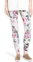 Hue Women's Rose Print Leggings