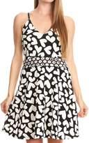 Sakkas 640747 - Adele Balconette Short Casual Dress Adjustable Shoulder Straps Flared - OS
