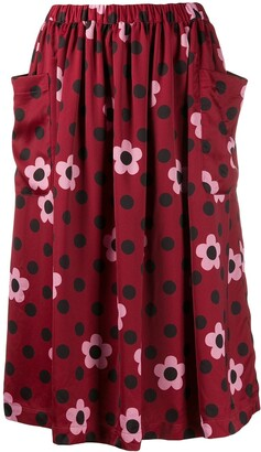 COMME DES GARÇONS GIRL Floral Print Skirt