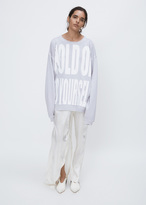 Haider Ackermann perth pale grey hold on to yourself sweater