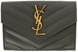 Saint Laurent Grey Uptown Compact Wallet