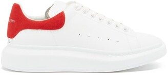 Alexander McQueen Raised-sole Low-top Leather Trainers - White Multi