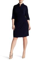 Tahari Elbow Sleeve Jersey Dress (Plus Size)