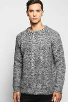 Boohoo Brushed Fisherman Cable Knit Sweater