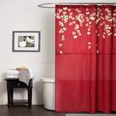 Lush Decor Flower Drop Shower Curtain, 72-Inch by 72-Inch, Red
