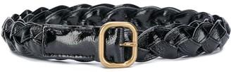 Philosophy di Lorenzo Serafini Woven-Strap Leather Belt