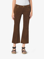 Michael Kors Cropped Flared Suede Pants