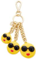 Alice + Olivia Triple Stace Emoji Keychain