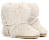Gianvito Rossi Cortina Fur Concealed Wedge Ankle Boots