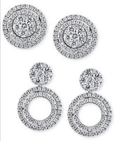 Effy Diamond Cluster Stud Convertible Jacket Earrings (1 ct. t.w.) in 14k White or Yellow Gold