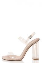 Quiz Nude Clear Strap Detail Sandals
