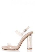 Quiz Nude Perspex Strap Detail Sandals