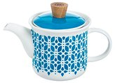 Typhoon Lotus Teapot with Infuser, Porcelain, Blue/White,