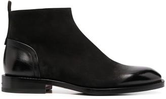 Santoni nabuck Chelsea boots