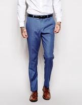 Asos Skinny Suit Pants In Blue