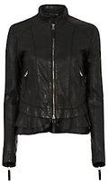 Marissa Webb Harvey Ruffle Hem Leather Jacket