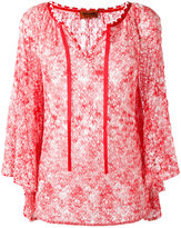 Missoni tie neck blouse - women - Viscose - 44