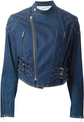 Christian Dior Pre-Owned denim biker jacket
