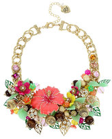 Betsey Johnson Tropical Punch Flower Statement Necklace