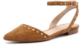 Wanted Cabella Tan Suede/Gold Studs