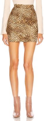 Nili Lotan Rivoli Skirt in Golden Baby Leopard Print | FWRD