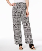 JM Collection Petite Printed Soft Pants, Created for Macy's