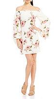 Lucy Paris Off-the-Shoulder Floral Print Shift Dress