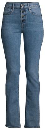 3x1 Poppy Mid-Rise Slim Boot-Cut Jeans