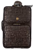 Diane von Furstenberg Leather-Trimmed Logo Suitcase