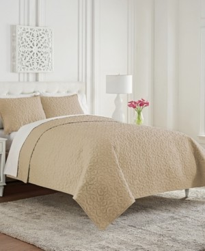 Waterford Mosaic Full/Queen 3 Piece Coverlet Set Bedding