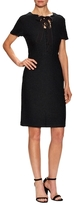 St. John Newport Tie Front Neck Flared Dress
