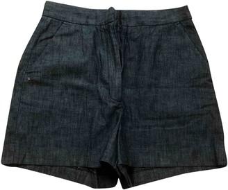 Masscob Blue Cotton Shorts for Women