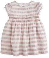 Burberry Marielle Striped Silk Dress, Light Copper Pink, Size 6M-3