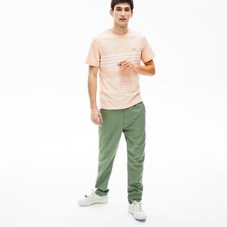 Lacoste Mens Cotton-Linen Stripe T-shirt