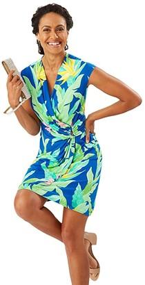 Tommy Bahama Nirvana Night Faux Wrap Dress (Turkish Sea) Women's Dress