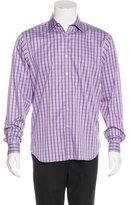 Michael Kors Check Print Dress Shirt