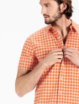 Lucky Brand Gingham Short Sleeve Ballona Shirt