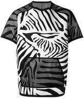 adidas zebra print T-shirt - men - Polyester/Polyurethane - L