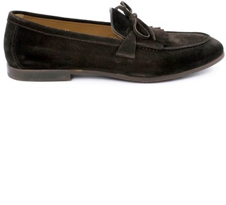 Doucal's Doucals Brown Suede Mocassin Tassel Loafers