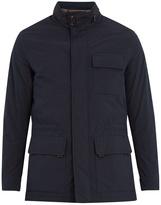 Ermenegildo Zegna High-neck concealed-hood field jacket