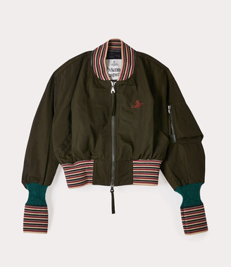 Vivienne Westwood Cropped Wilma Bomber Green