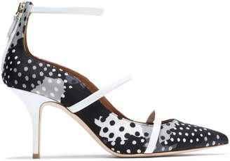 Malone Souliers X Emanuel Ungaro + Emanuel Ungaro Patent Leather-trimmed Printed Faille Pumps