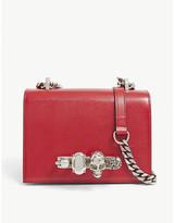 Alexander McQueen Small jewelled leather satchel